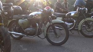 Another pair.  This time two BSA 'A' series twins with a subtle difference.