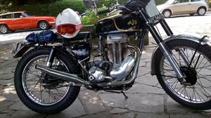 Barry's AJS 16C trials bike with 350cc competition engine.