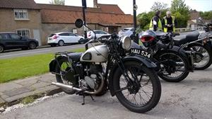 Jim was riding the earlier of his BSA C11s.